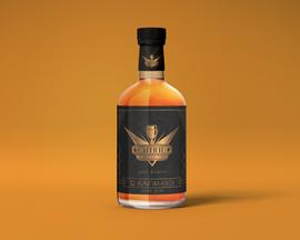 Art deco whiskey bottle