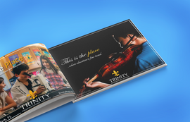 Close up on elegant musical ad