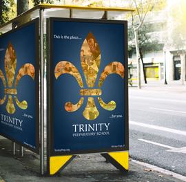 elegant large format brand awareness ad