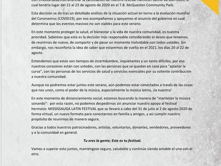 Hamilton Latino Festival pospuesto para el 2021