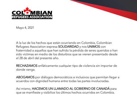 Solidaridad y llamado al diálogo democrático