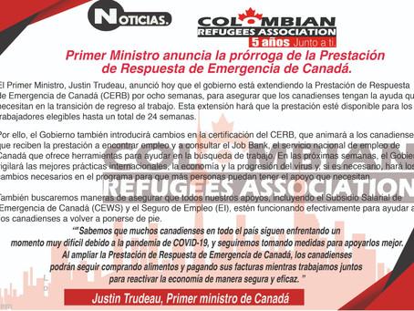 Se extiende el programa de ayuda CERB.