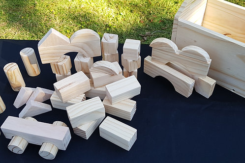 40 Piece Wooden Block Set
