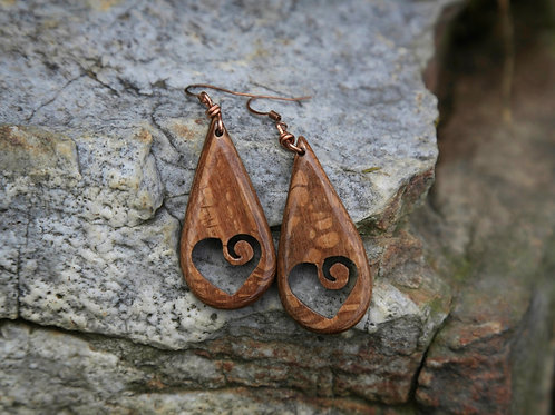 Swirl Heart Earrings