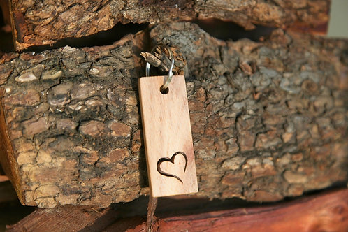Heart Cut-out Keychain