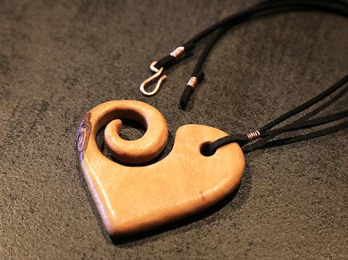 Jac Swirl Heart Necklace