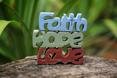 Faith, Hope & Love Blocks