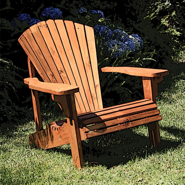 Single Seat Adirondack Chair