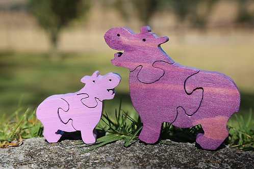 Hippo Puzzle Set (Mamma & Baby)