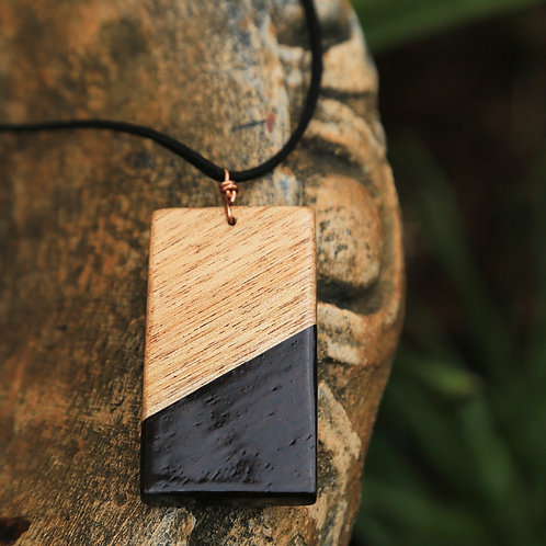 Rectangle 2-Tone Necklace