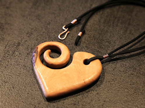 Jac Swirl Heart Necklace