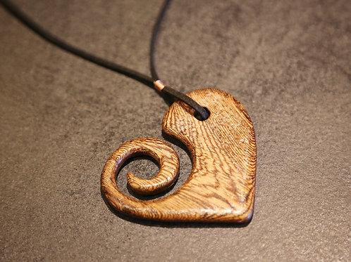 Mac Swirl Heart Necklace