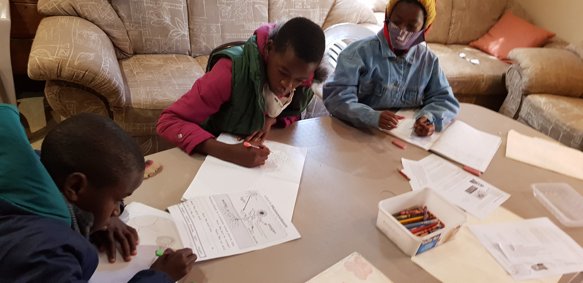 Lessons setup based on the South Africa Curriculum they would be learning in public school