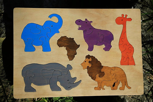 African Animal Puzzle