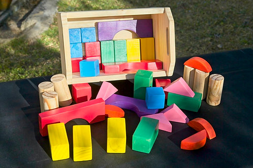Colourful 80-piece Block Set