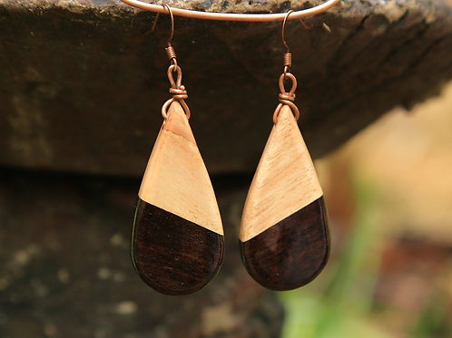 Teardrop 2-Tone Earrings
