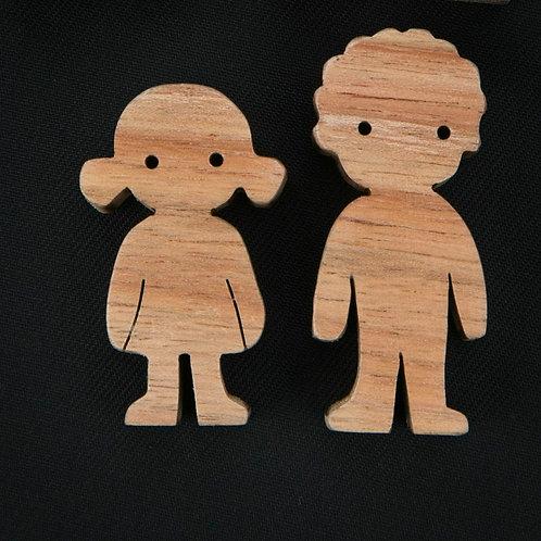 Munchkin Play Set - Curly Hair Children