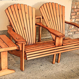 Two-Seat Adirondack Chair