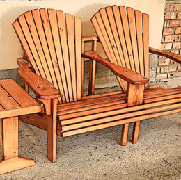 Two-Seat Adirondack Chair