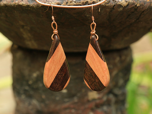 Teardrop 3-Tone Earrings