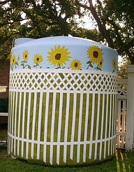 painted plastic well tank