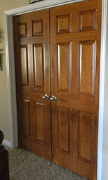 faux painted entry doors