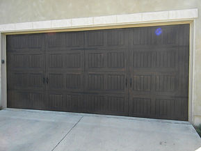 faux painted steel garage door