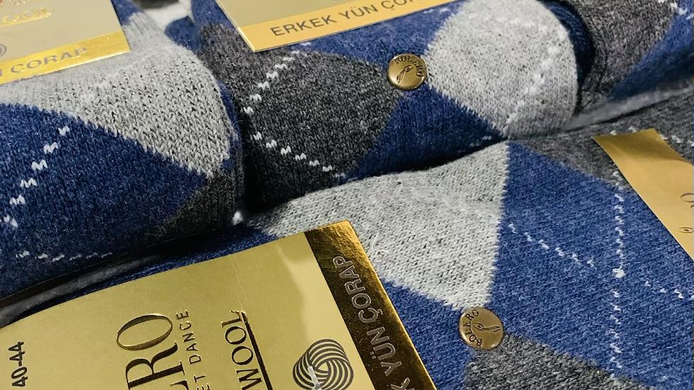 "Blue Silver Diamond Socks "" Antibacterial"""