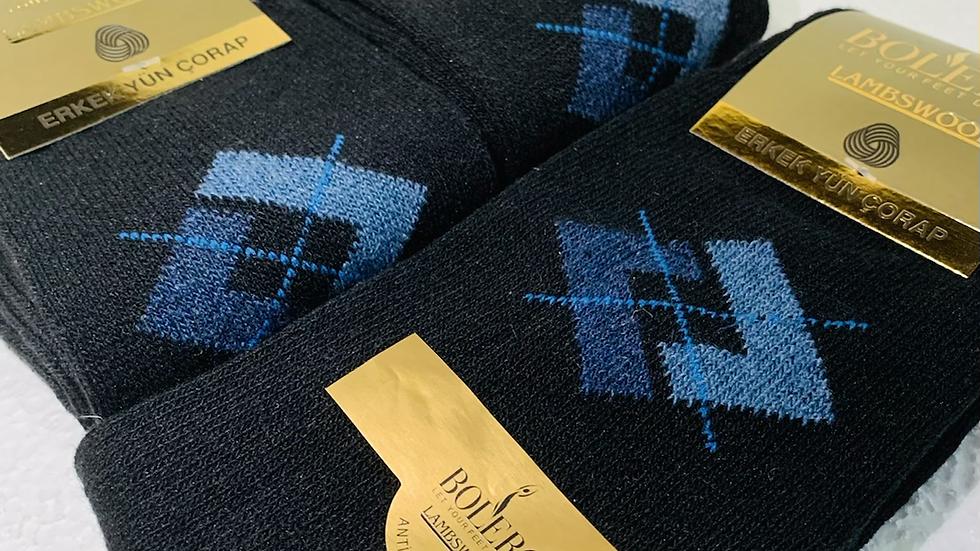 "Blue Diamond Wool Socks ""Antibacterial"""