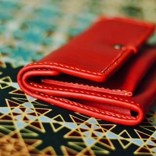 Porte-monnaie rouge vif