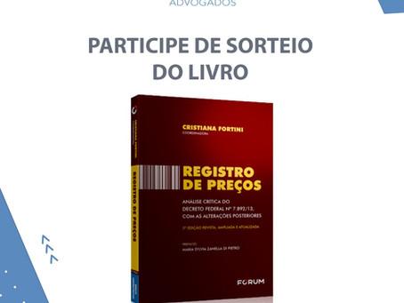 """Sorteio do livro """"Registro de preços"""""""