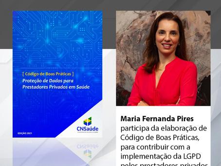 Maria Fernanda Pires participa da elaboração de código de boas práticas para setor de saúde