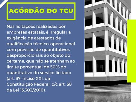 Comentário sobre acórdão do TCU referente à licitações por empresas estatais