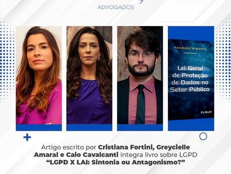 Artigo de autoria de advogados da equipe Carvalho Pereira, Fortini consta em livro sobre LGPD