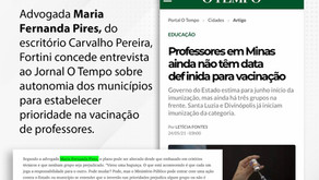 Maria Fernanda Pires concede entrevista ao Jornal O Tempo