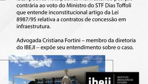 IBEJI publica nota pública manifestando posição contrária ao voto do Ministro do STF.