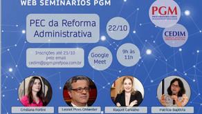 Cristiana Fortini participa de Web Seminário da Procuradoria-Geral do Município de Porto Alegre