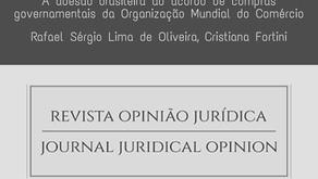 Rafael Sérgio e Cristiana Fortini publicam artigo na Revista Opinião Jurídica