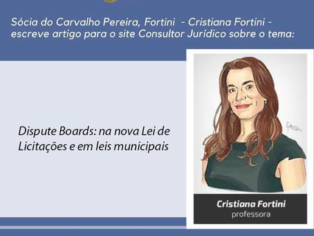 Artigo de Cristiana Fortini é publicado no site Conjur