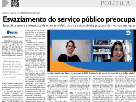 Cristiana Fortini concede entrevista Diário do Comércio