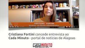 Cristiana Fortini concede entrevista ao portal Cada Minuto
