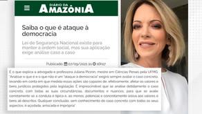 Juliana Picinin concede entrevista sobre o que é ataque à democracia