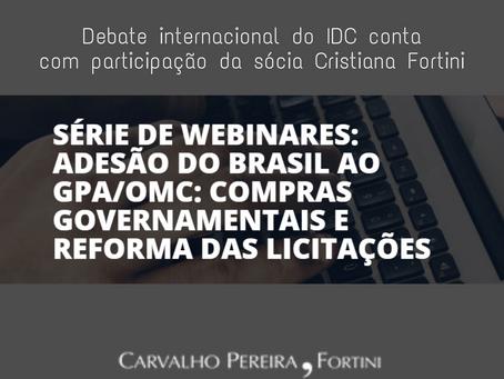 Debate internacional do IDP conta com participação da sócia Cristiana Fortini