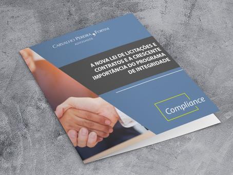 Preparamos um material especial sobre nova lei de licitações e contratos e programas de integridade