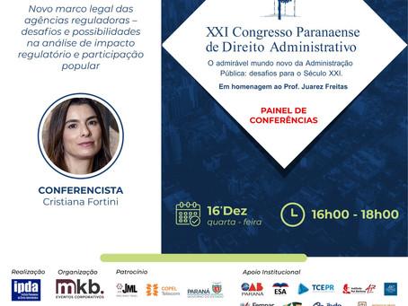 Cristiana Fortini participa do XXI Congresso Paranaense de Direito Administrativo