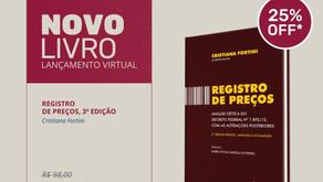 Livro Registro de Preços, de Cristiana Fortini, chega à 3ª edição