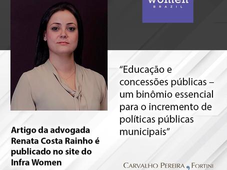 Artigo de Renata Costa Rainho é publicado no site do Infra Women