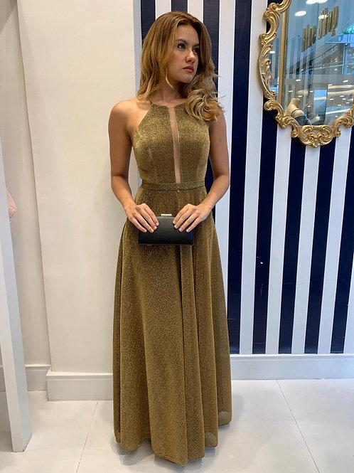 Vestido Dourado Metalizado