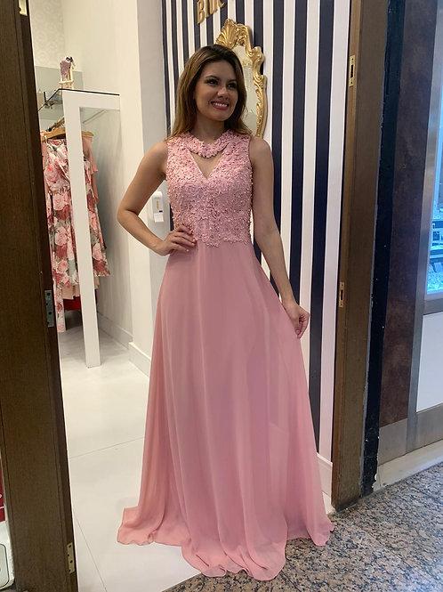 Vestido Plus Size Rosa Claro
