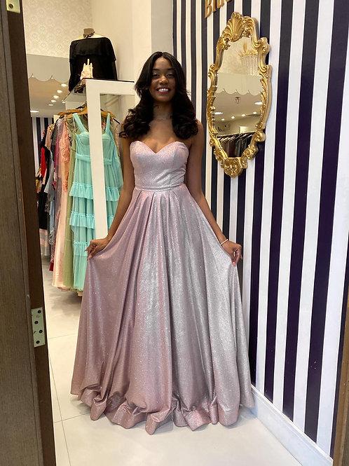 Vestido Estilo Princesa de Glitter